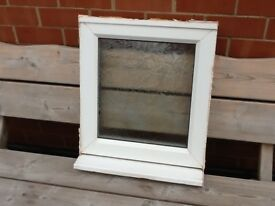 UPVC WINDOW WITH FROSTED GLASS.