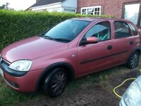 2001 Vauxhall Corsa C Petrol Comfort 1.2i 16v - £95, NO OFFERS