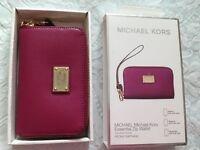 Genuine Brand Michael Kors pink saffiano leather zip wallet -£35