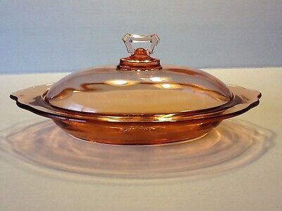 "Elegant Depression Glass Cambridge Pink #915 12"" Large Serving Dish w/Lid"