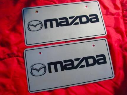 JDM Mazda dealer showroom display number plates - genuine RX7 MX5