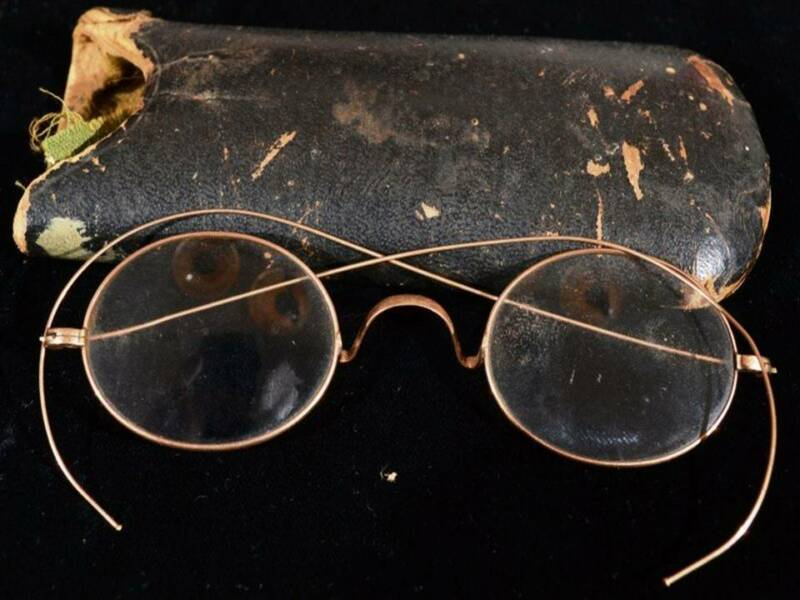 Antique Victorian 14K Y Gold Optical Spectacles Eyeglasses
