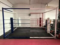 Boxing floor ring
