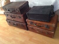 vintage suitcase's ideal for wedding,photography,shop displays etc