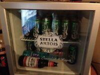Stella Artois Husky Square Silver Beer Fridge
