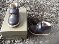 Infants Navy Leather Timberlands