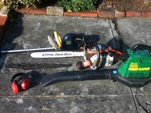 Leaf blower ,Stihl Chainsaw ,GMC hedgetrimmer South Hobart Hobart City Preview