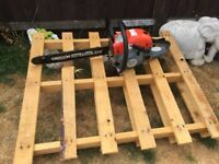 NEARLY NEW - BARELY USED - PETROL POWERFUL CHAINSAW - NEW CHAIN - EXCELLENT CONDITION - JUST £125