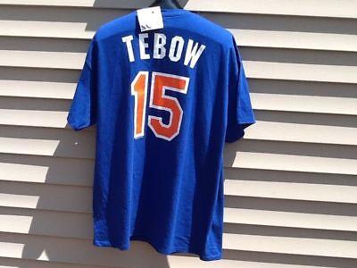 Tim Tebow New York Mets Jersey T Shirt Mlb Baseball Florida Gators Sz Xl
