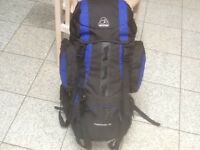 Brand new/unused Eurohike 65(litre capacity)rucksack-top and bottom loading,side&stop pockets