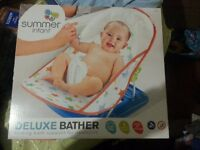 Summer Infant Deluxe Baby Bather brand new, in box, never opened