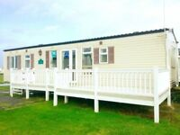 JANUARY STATIC CARAVAN SALE - 3 YEARS FREE SITE FEES - 3 BEDROOM - DG CH - CENTER LOUNGE RARE