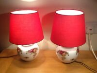 Pair of Royal Albert Old Country Roses table or bedside lamps