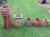 Antique chimney pots