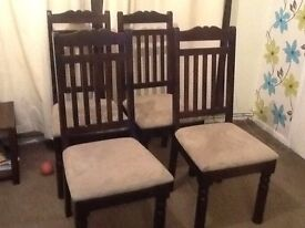 Four dining chairs .good quality .perfect for extra seating at Christmas