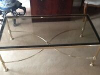 Glass Top Coffee Table with matching nest of tables