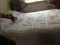 Great condition King size divan bed with memory foam mattress
