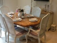 Lovely Dining Table and 6 High Backed Chairs