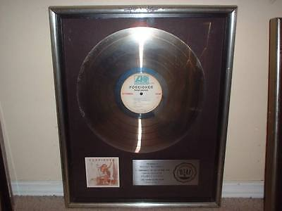 FOREIGNER RIAA PLATINUM RECORD AWARD HEAD GAMES  DIRTY WHITE BOY/REV ON RED LINE