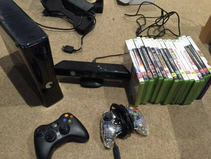 XBOX 360 250GB + Kinect + 2 controllers + 16 games Southbank Melbourne City Preview