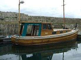 BOAT WITH CHARACTOR. ''TARA'' FOR SALE. On Pontoon Berth at ''Whiteharbour Marina'' Carrickfergus
