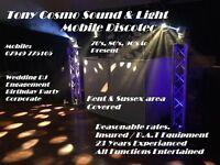 Tunbridge Wells and Tonbridge Mobile Disco, Birthdays, Weddings, Corporate Events.