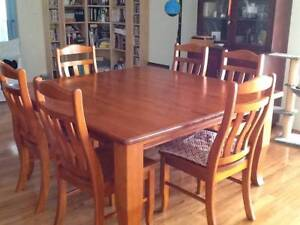 Solid Hardwood Timber Dining Table seats 8