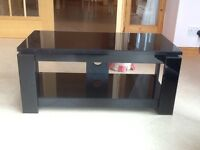 Sonorous Black Glass TV Stand