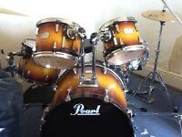 Pearl studio session 5 piece drum kit