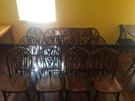 12 Cafe / Pub chairs. Used but in reasonable condition.