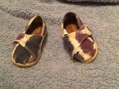 Toms Toddlers Purple Blue White Little Girls Sz 6