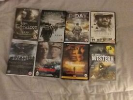 8 WAR DVDS ALL AS NEW