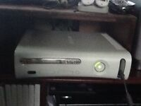 Xbox 360 with 12.5gb free storage, 2 controllers