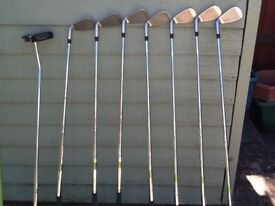 Set of Masters golf clubs including bag. Excellent condition.