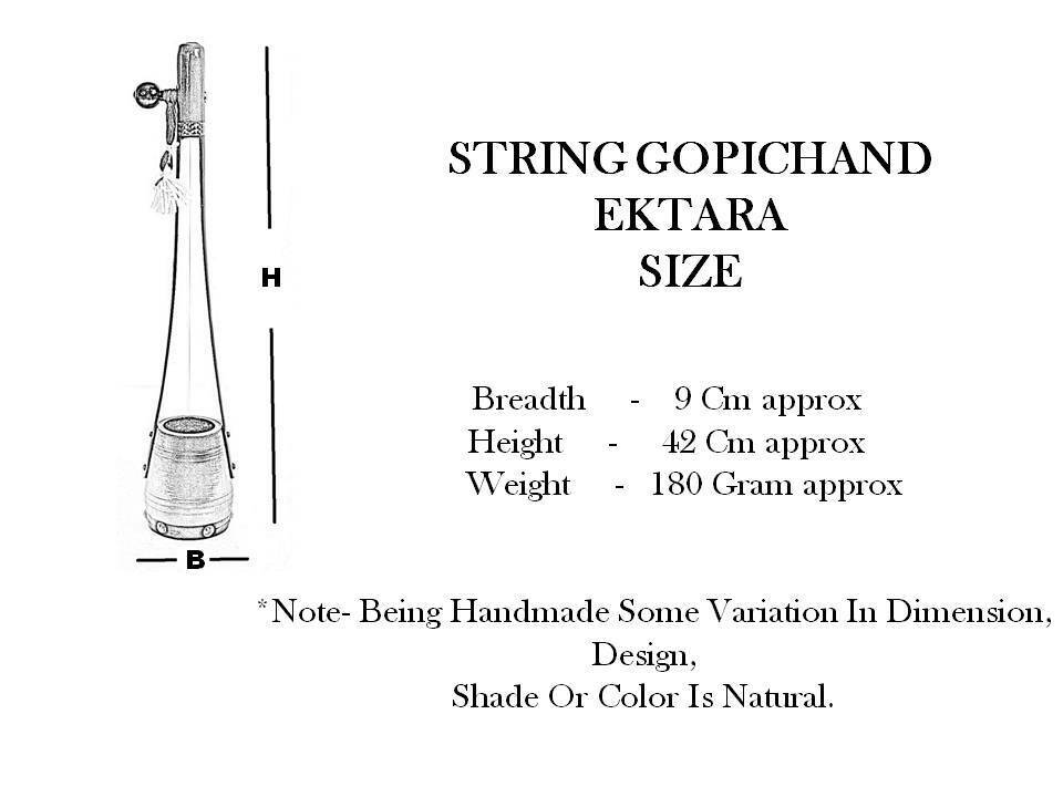String Gopichand Ektara FAST SHIPPING WITH IN 24 HOURS ITEM LOCATED IN USA - $25.10