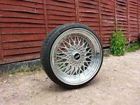 18 inch BMW BBS DARE RS Alloy Wheels & Tyres..(will fit E36,E46,Mv2,E34,1 series,m3,328i,deep