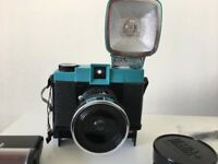 Diana F+ With instant back lomography camera with extra lens and accessories