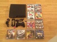 320gb SLIM PS3 CONSOLE with10 GAMES £65 no offers (PlayStation 3)