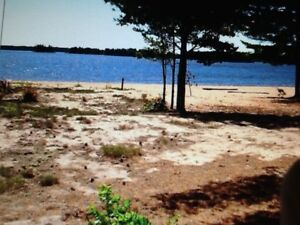 Waterfront beach lot (rental available)