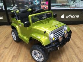 KIDS RIDE ON ELECTRIC REMOTE CONTROL JEEP AGES 3 TO 5