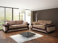 SPRING SALE!! DINO FABRIC SOFAS AVAILABLE IN BLACK OR BROWN, 3+2