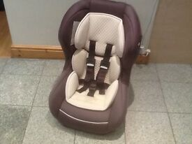 Mothercare lightweight group 0+1 car seat for newborn to18kg(to 4yrs)rear & forward facing-washed