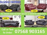 SOFA HOT OFFER BRAND NEW LEATHER RECLINER FAST DELIVERY 32857