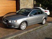 2007 Audi A4 SE Tdi 2.7 Saloon Auto. Grey metallic with pale grey leather interior.
