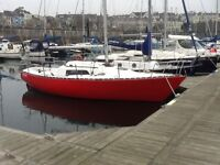 Ruffian 23 Sailing Yacht with Yanmar 1GM10 inboard diesel