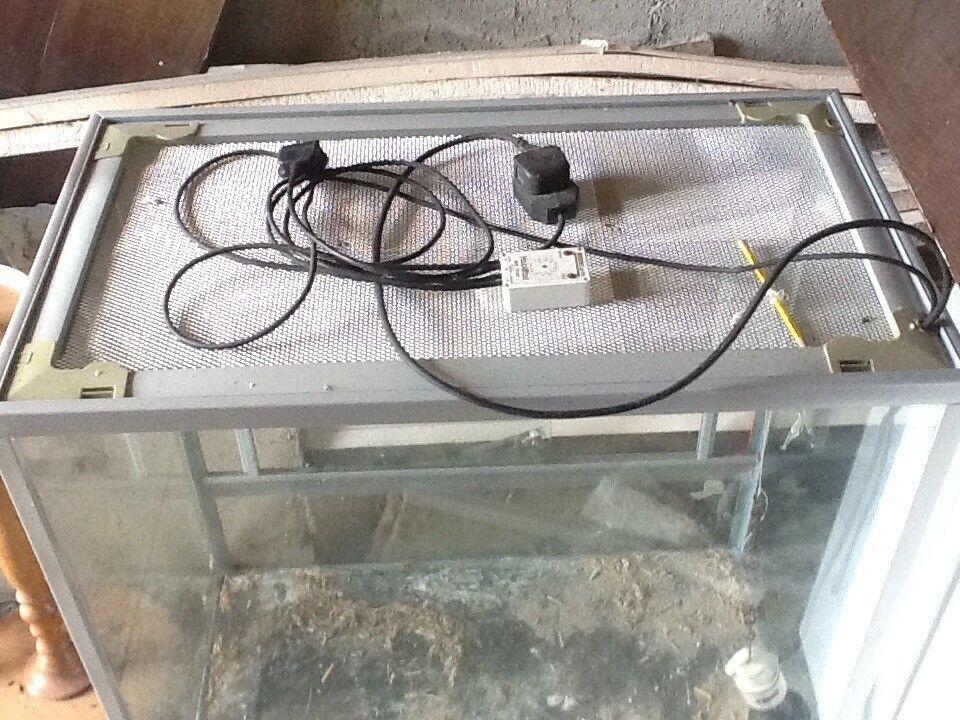Large Vivarium Suitable For Reptiles Glass With Sliding Door In