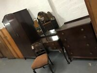 LOGAN'S VINTAGE BEDROOM SET - WARDROBE / DRESSING TABLE & CHEST OF DRAWERS