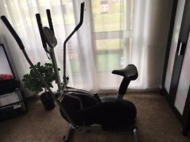 2-IN-1 Elliptical Cross Trainer And Exercise Bike Cardio