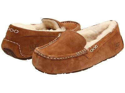 Women's Shoes UGG Ansley Moccasin Slippers 3312 Chestnut 5 6 7 8 9 10 11 *New*