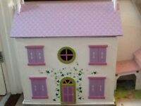 Dolls House, with dolls and furniture, by the dolls house emporium